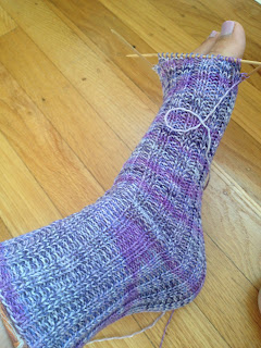 Knit Tube Socks - Toe Decreasing