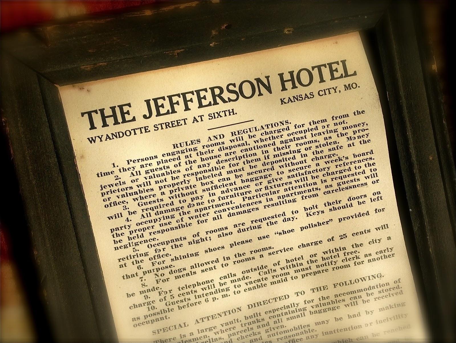 paris of the plains: Ephemeral city: Jefferson Hotel sign