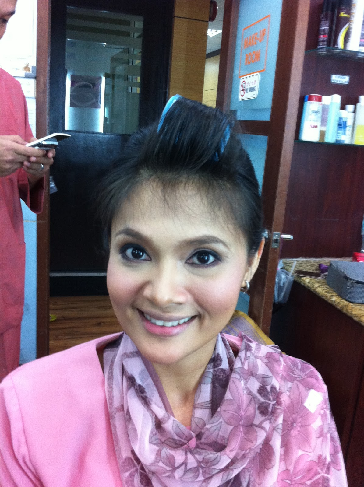 Make-up & Hair-do done by me for <b>Nik Maihan</b> Sports Buletin Utama - IMG_1227