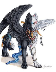 Tsuki~ Half Dark Half Light Wolf Form