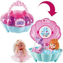 Bolso de Mano con Baño de Sirenitas Incorporado Conjunto 2en1 Portátil Diseño Bañera para Muñecas I
