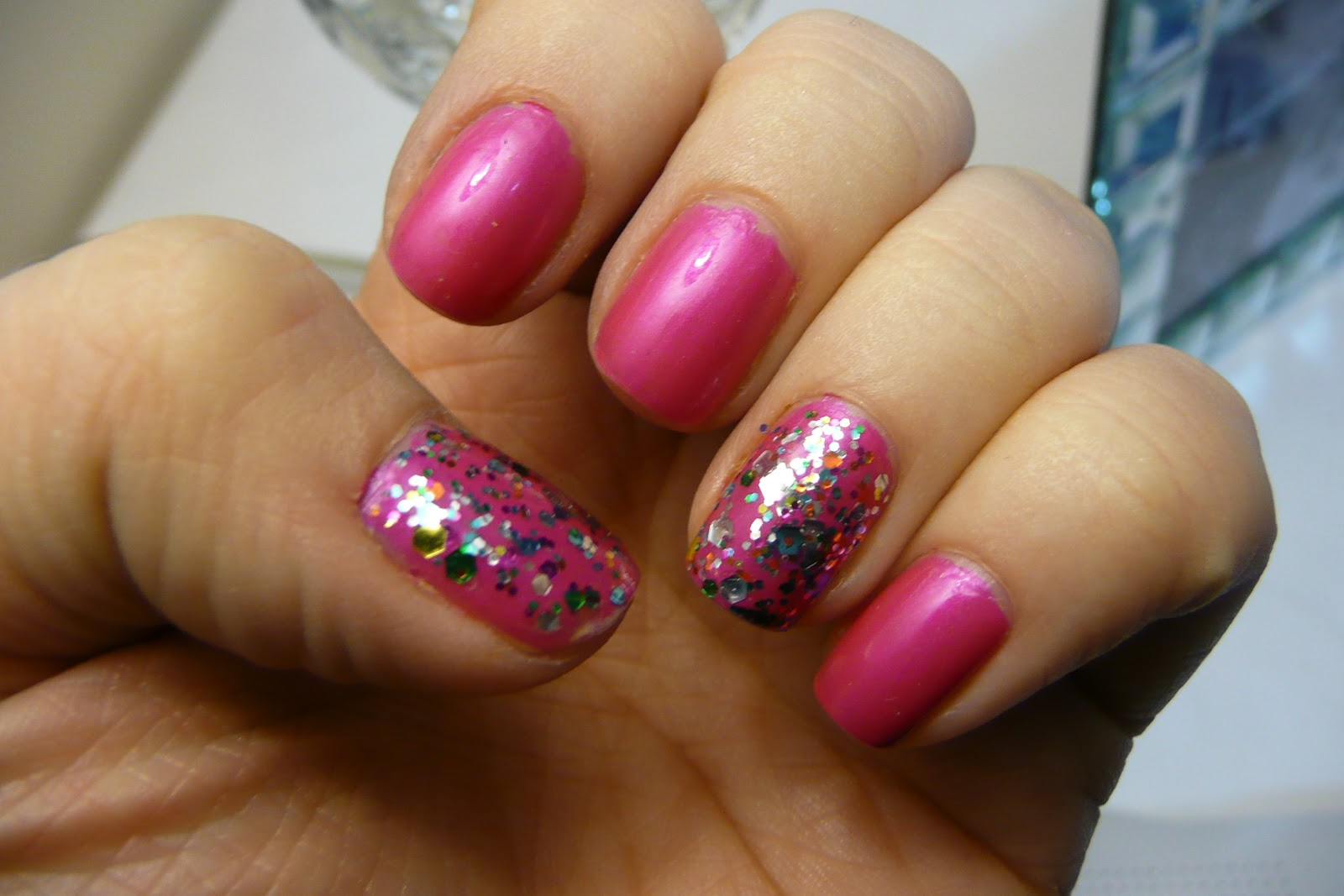 NOTD x2! – Pinks and Glitter