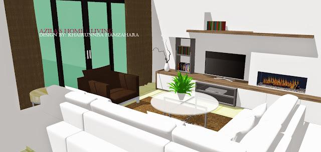 Rekabentuk Hiasan Dalaman Rumah teres dengan konsep moden, simple dan ...