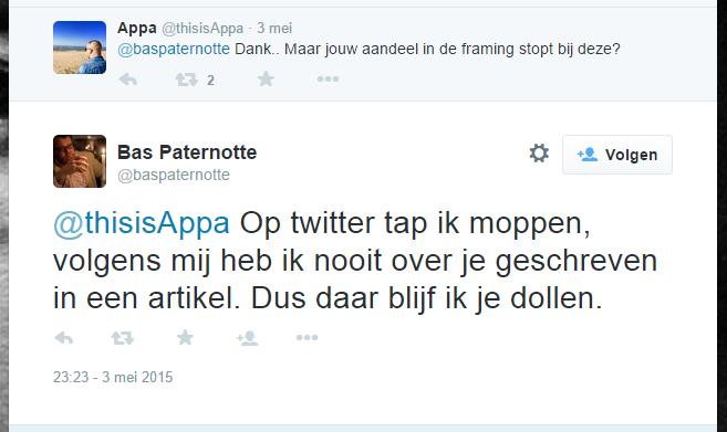 Bas Paternotte (@BasPaternotte, #ThePostOnline) & #MDI vs. Rapper Appa.