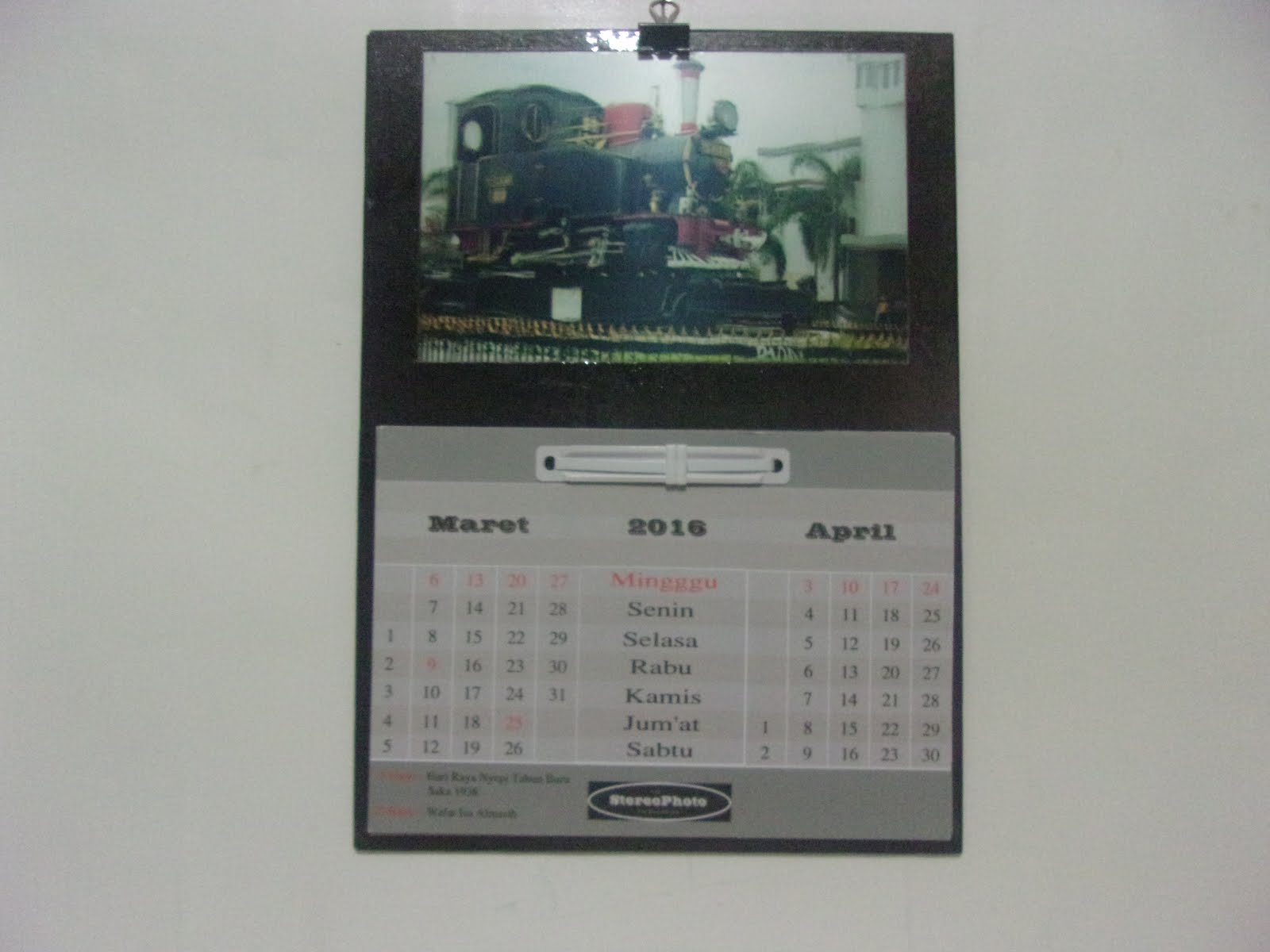 Stereophoto-Kalender Dinding