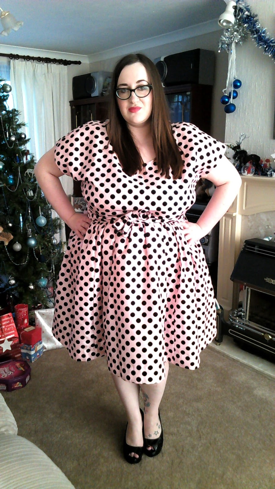 Fat Plus Size Girl Bbw Size 20 22 Wearing Modcloth The Nicolette Dress