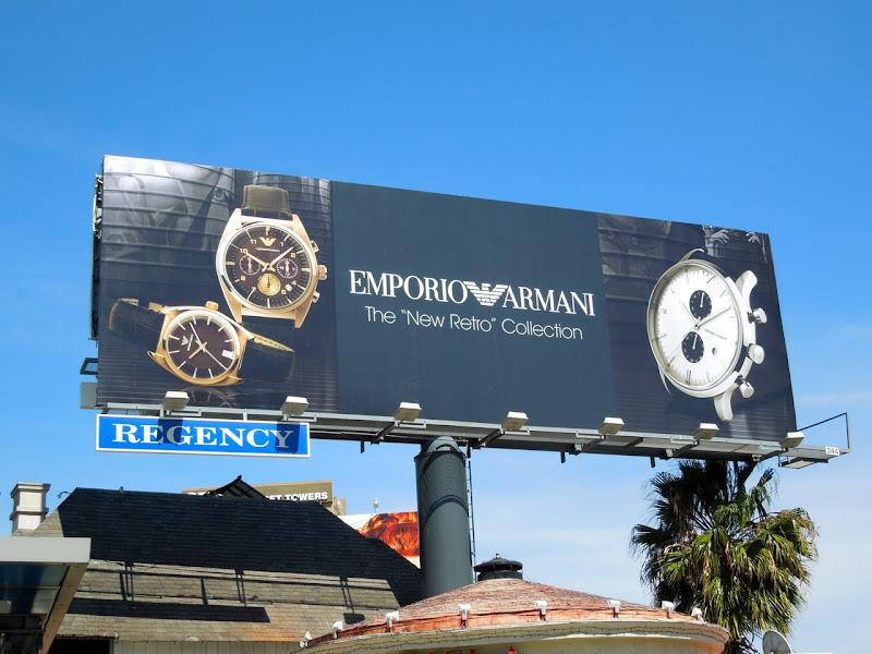 Emporio Armani Retro Collection watch billboard