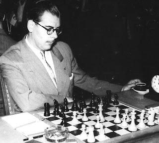 Antonio Medina, vencedor del I Torneo Nacional de Ajedrez Berga 1950