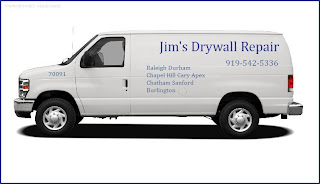 Call Jim 919-542-5336 for Contractors Prices and Cost of Dry Wall work in Durham, NC.