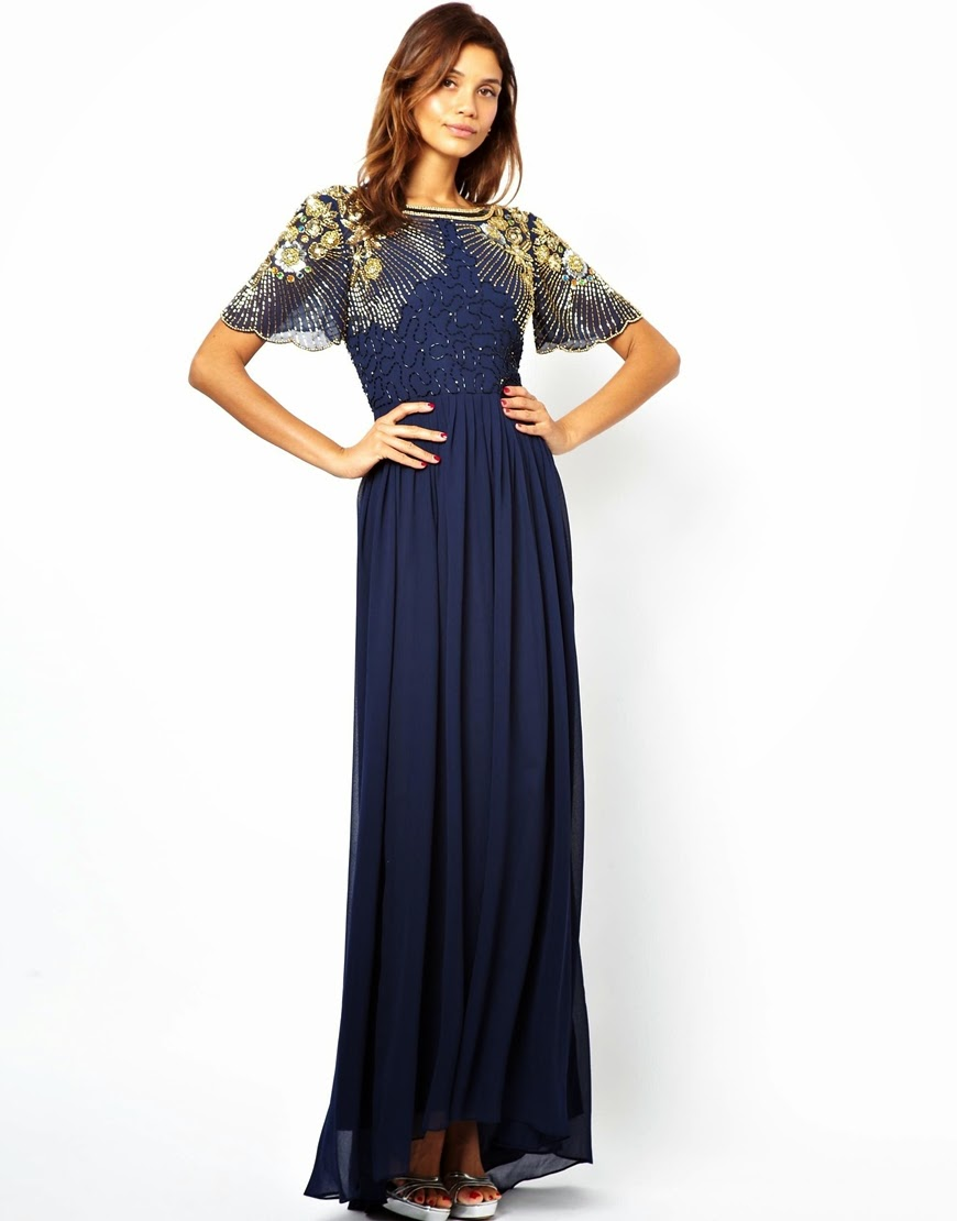 Virgos Lounge Raina Maxi Dress - Affordable Blue Wedding Dresses