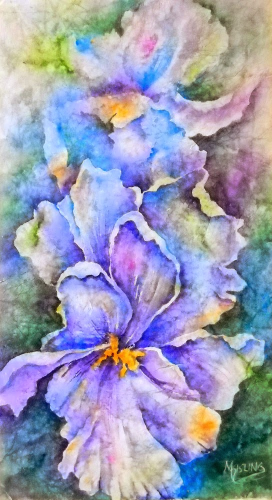 martha kisling art with heart   irises and painting on