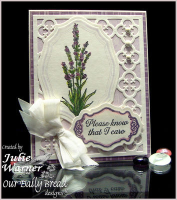 Stamps - Our Daily Bread Designs ODBD Products - Elegant Oval Single, Lavender, No Words, ODBD Custom Antique Labels and Border Dies, ODBD Custom Elegant Oval Dies, ODBD Custom Quatrefoil Pattern Die
