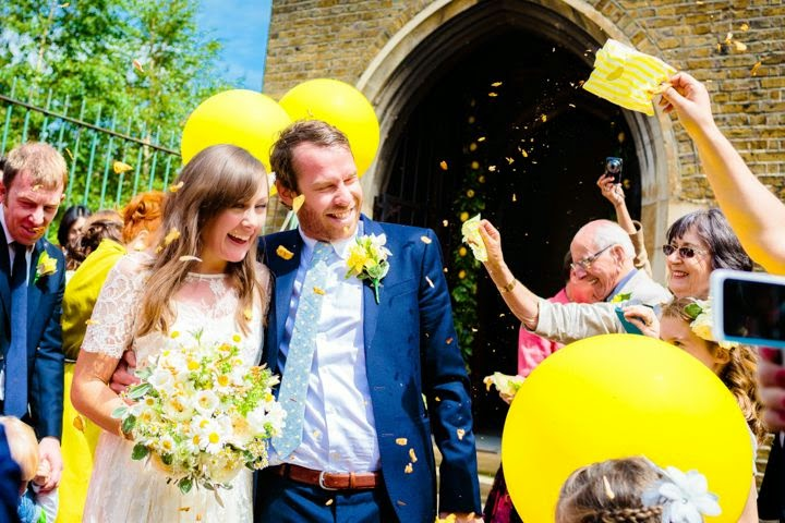 The Confetti Blog: Yellow and Blue Wedding Ideas from The Real ...
