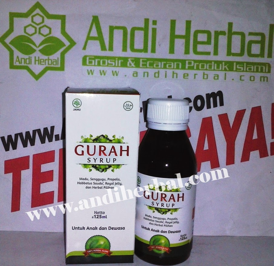 Gurah Syrup Hanifah Untuk Anak dan Dewasa 125 ml Andiherbal.com