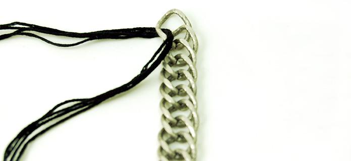 Design Thrift Blog: DIY crochet pearl collar necklace inspired by venessa arizaga