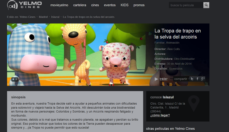 http://www.yelmocines.es/peliculas/la-tropa-de-trapo-en-la-selva-del-arcoiris