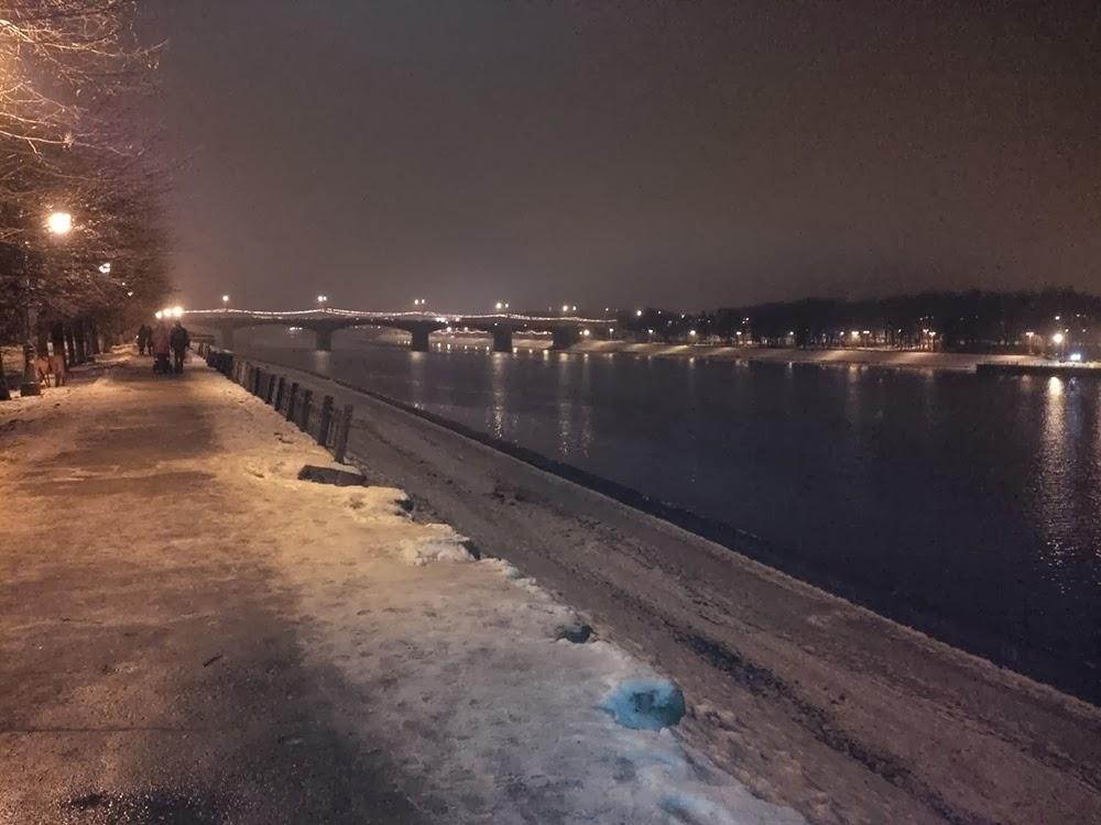 Река Волга в Твери