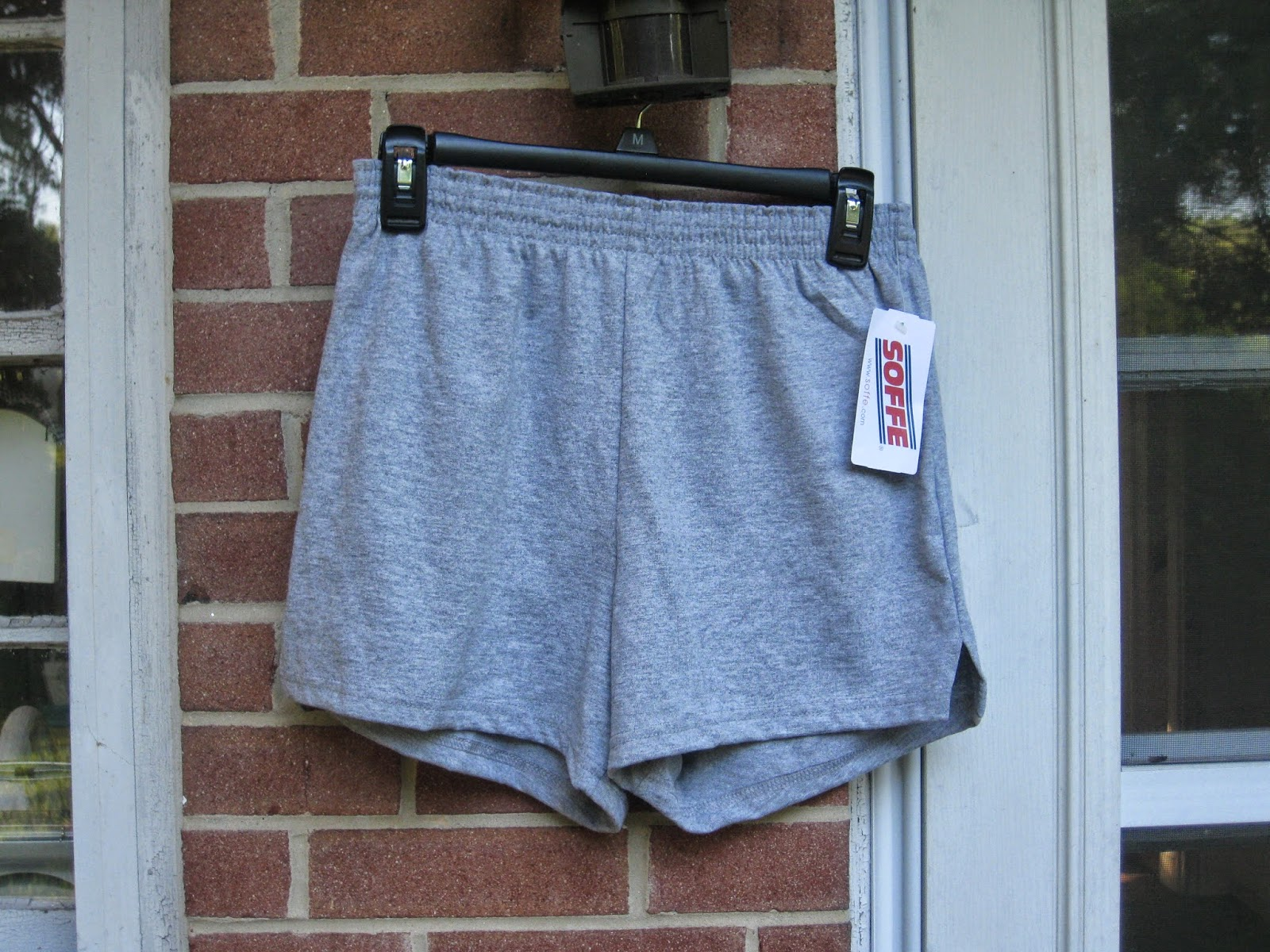 Grey Oxford Soffe Fold-Over Shorts in Size Medium