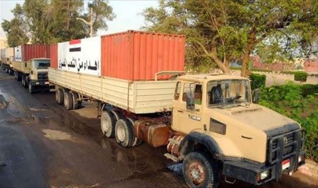 مصر ترسل 500 طن مواد غذائية لغزة