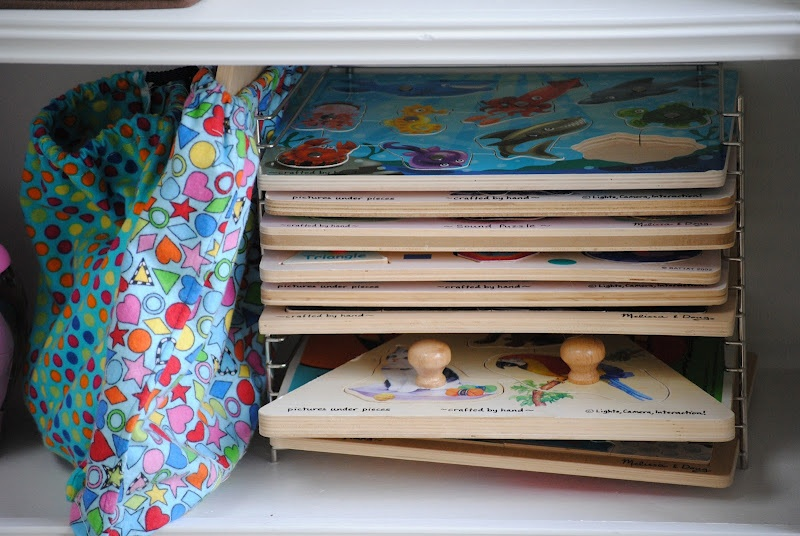 puzzle toy storage ideas