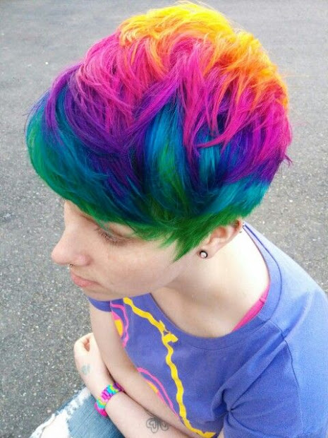 colorful short haircuts