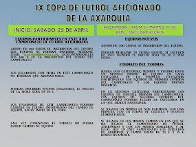 IX COPA DE FUTBOL AFICIONADO DE LA AXARQUIA