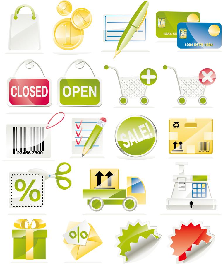 ショッピング サイト デザイン アイコン sale of a shopping icon イラスト素材