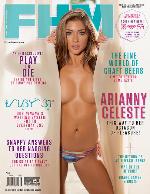 Arianny Celeste FHM August 2015 Cover Girl