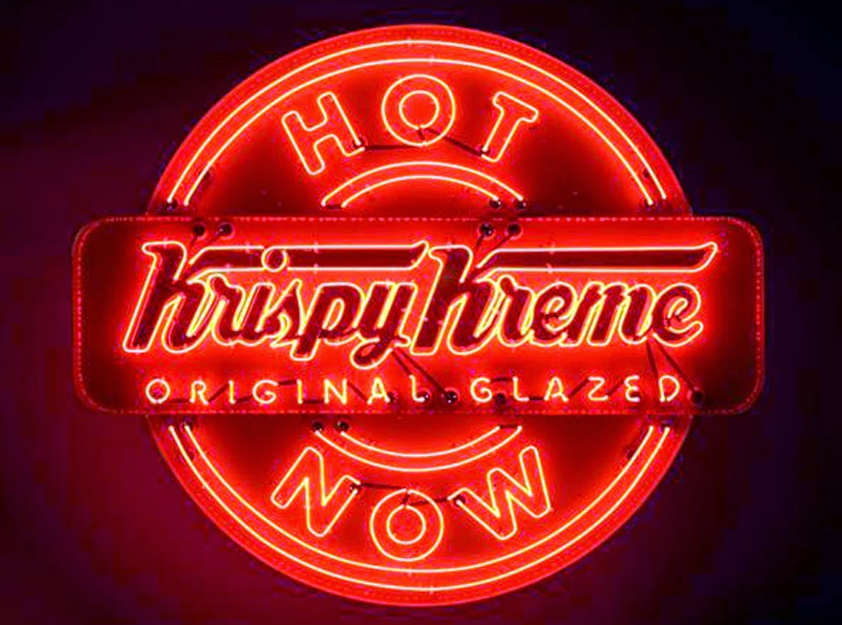 Krispy Kreme hot now sign