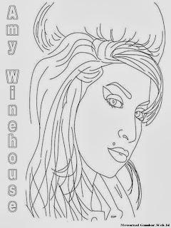 Mewarnai Gambar Amy Winehouse