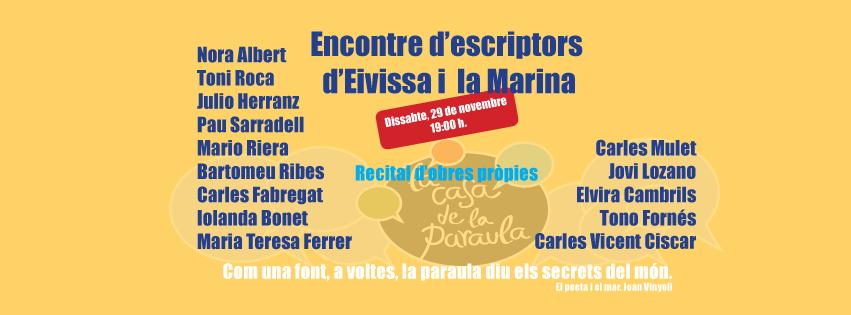 Encontre d'escriptor d'Eivissa i la Marina