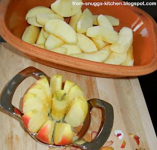 Apfelmus aus dem Ofen