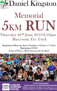5k in Macroom, W Cork - Thurs 20th June  2019