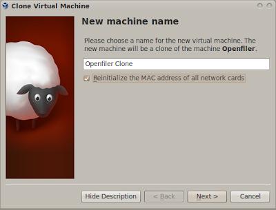 Nama clone virtual machine