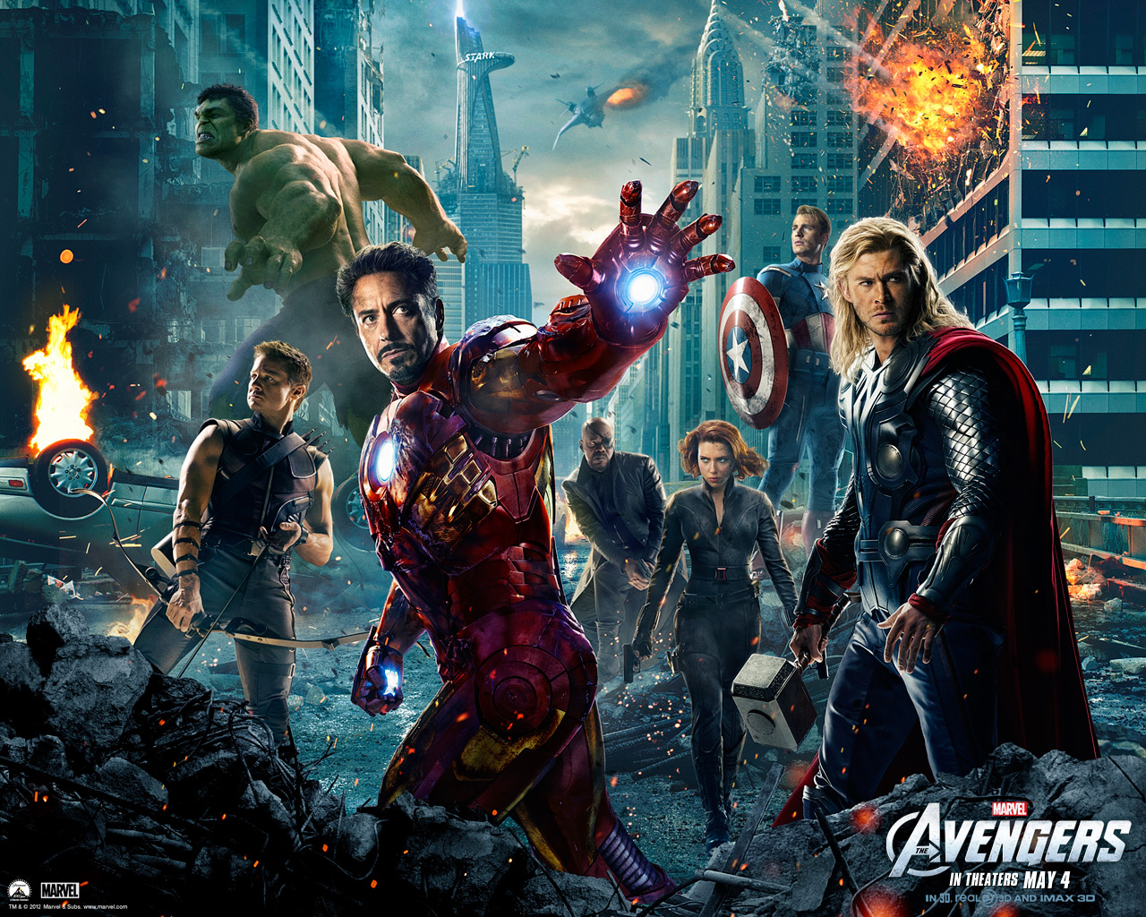 VIZIO BLOG: THE AVENGERS MARVEL 2012 MOVIE WALLPAPERS (LOS VENGADORES)