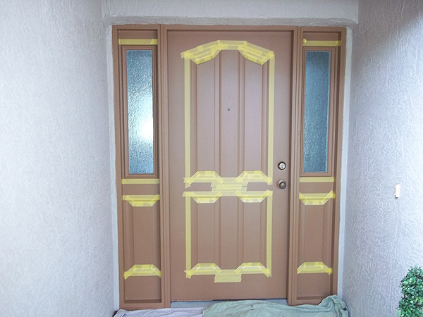 Paint Front Door To Look Like Wood And To Match Garage Door ...