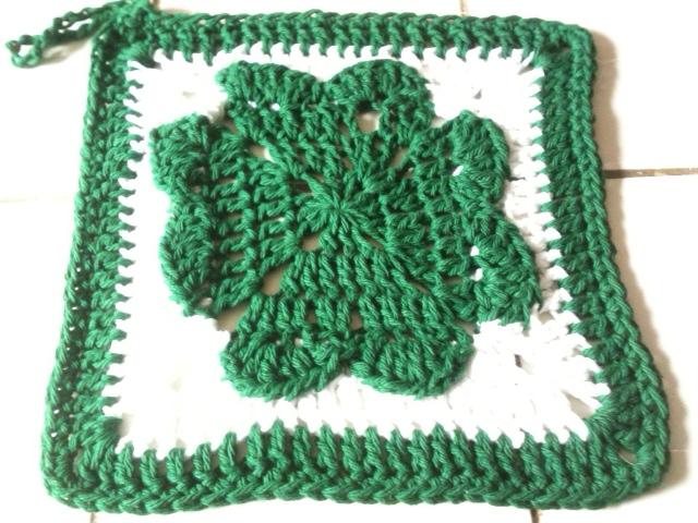 Craft Attic Resources Shamrock Crochet Dishcloth