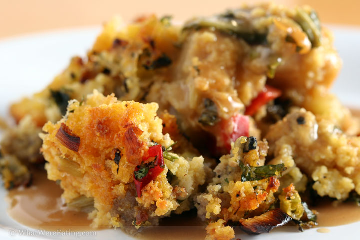 ... dangerous kitchen of Tré Taylor : Kick Ass Cajun Cornbread Stuffing