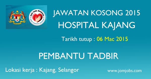 Jawatan Kosong Hospital Kajang 2015 Terkini