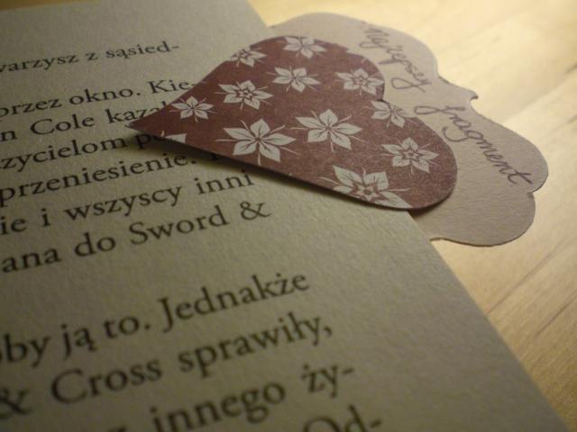 Zakładki do książki w kształcie serca, Bookmark. bookmarker, overlap, pleat, art, serca, hearts