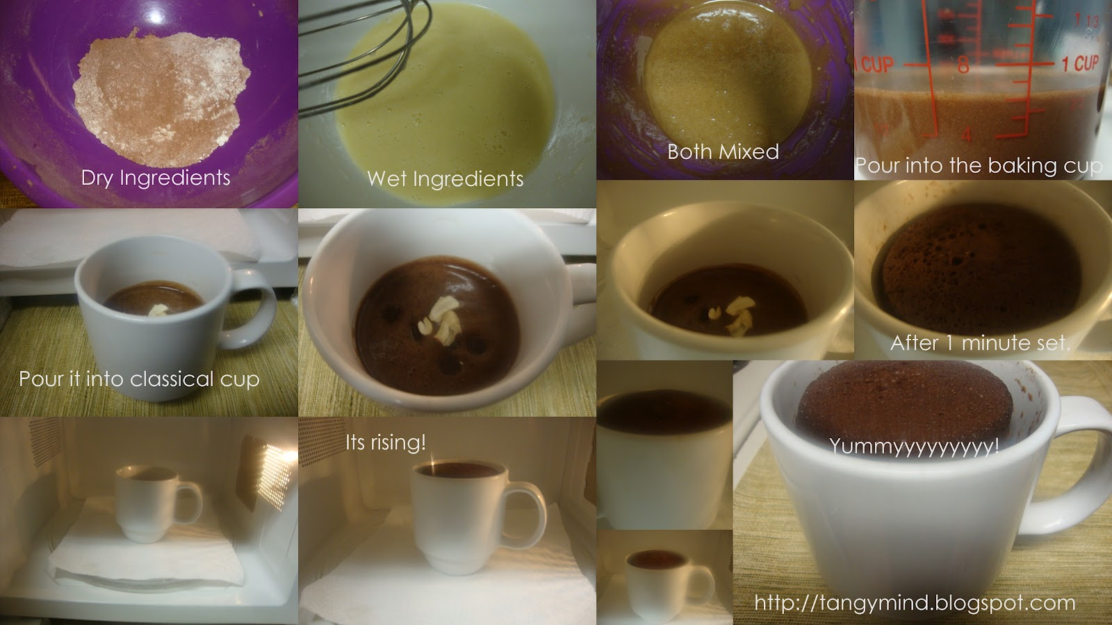 How To Make A Chocolate Mug Cake Measured In Tablespoons