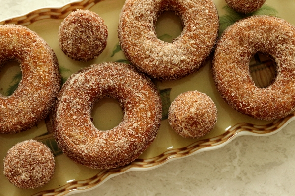 Double Dipped Apple Doughnuts Recipe — Dishmaps