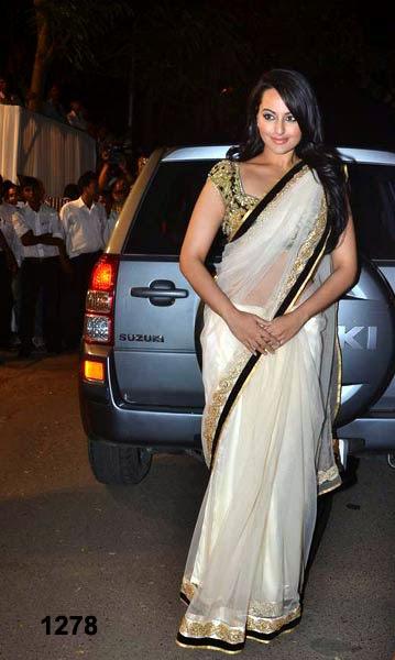 Bollywood Actress Gorgeous Saree, Bollywood Actress Shree devi,Sonakshi sinha,Priyanka Chopra Replica Saree