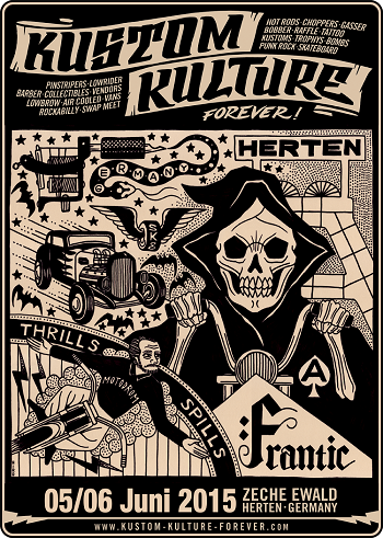 Kustom Kulture Forever. June 5th and 6th. Herten, Germany.