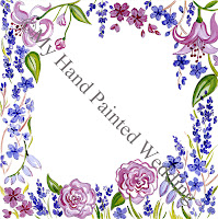 lavender and roses weddng guest book design