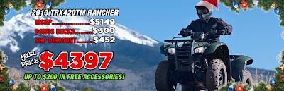 2013 TRX420TM RANCHER. SOUTHERN HONDA POWERSPORTS. CHATTANOOGA TN.