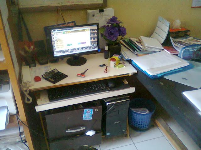 Ruang Kantor Digunakan Untuk Tempat Belajar Ngeblog dan AdSense