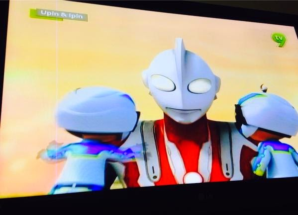 Ultraman vs Upin dan Ipin