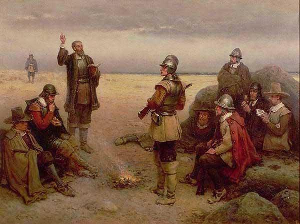Historienmalerei  Historienmalerei: Fromme Pilgerväter