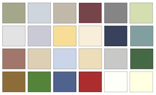 the federal color palette for period decorating - Home Decor Color Palettes